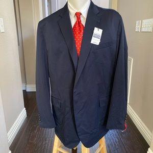 New Stafford men's navy blue blazer size 50Long
